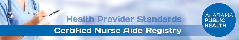 Alabama Certified Nurse Aide Registry